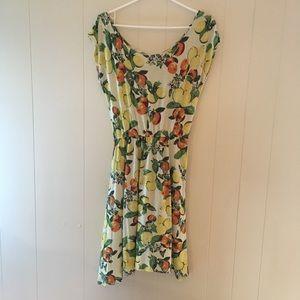 Citrus dress MED EUC